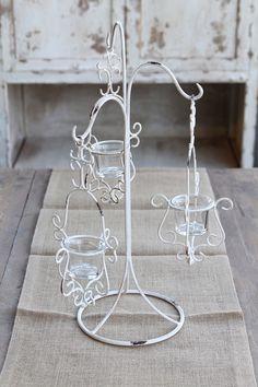 Wrought Iron 3 Hook Candleholder