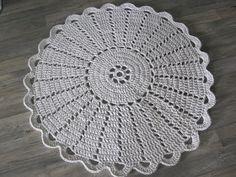 : Virkatun maton ohje Crochet Diagram, Crochet Patterns, Crochet Doilies, Yarn Crafts, Table Runners, Coasters, Rugs, Knitting, Diy