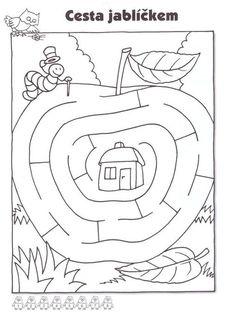 Nájdi cestu - Album používateľky zanka29 - Foto 27 Preschool Worksheets, Kindergarten Activities, Infant Activities, Activities For Kids, Mazes For Kids, Art For Kids, Maze Worksheet, Fall Coloring Pages, Montessori Math