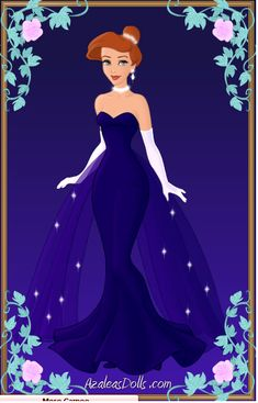 Anastasia Blue Ballet Gown by zozelini.deviantart.com on @deviantART