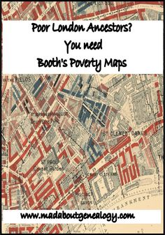Have you any ancestors from the poorer parts of London in your family history? Yes of course you do. Then do you know about the amazing genealogy resource that is Booth's Poverty Maps? Let me tell you all about them.