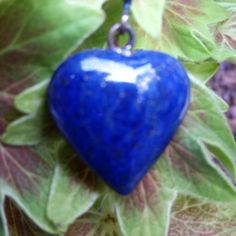 Lapis Lazuli Heart Pendant/Necklace - Wear Starry Nights!