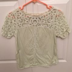 Beautiful anthropologie top Lace in perfect condition Anthropologie Tops Tees - Short Sleeve