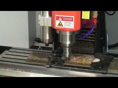 SKYFIRE CNC SVM-2 mini VMC with Industrial controller Cutting Demo-Bruss part - YouTube