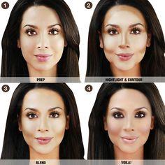 NYX Professional Makeup Wonder Stick - Dual-ended highlight & contour stick with cream highlighter and cream contour for a sculpted makeup look. Nyx Makeup, Contour Makeup, Contouring And Highlighting, Makeup Tips, Beauty Makeup, Hair Makeup, Makeup Ideas, Makeup Products, Easy Contouring