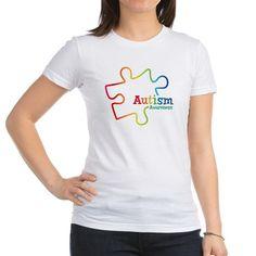 Rainbow Gradient Autism Shirt on CafePress.com