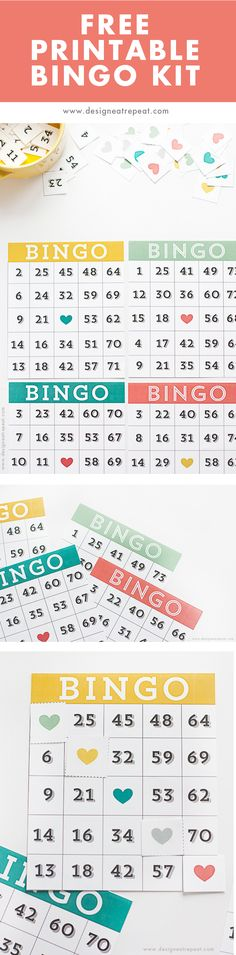 Looking for a (free) family game night idea? This printable Bingo set is free to download & can be assembled within minutes!