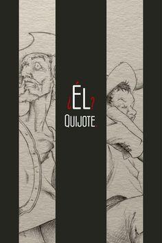 Ilustración Diseño Quijote Aniversario Cervantes 400años