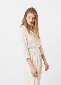 Flowy long dress -  Woman | MANGO Denmark