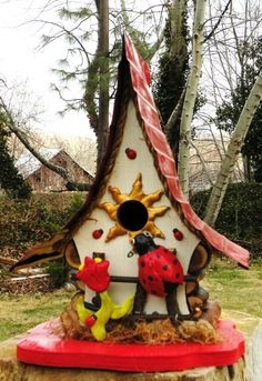 Ladybug in the Garden Birdhouse by papajonsflyinns