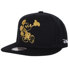 9c7087c9067 Amazon.com  ililily Mickey Mouse Logo New Era Style Snapback Trucker Hat  Baseball Cap (ballcap-1041-4)  Clothing