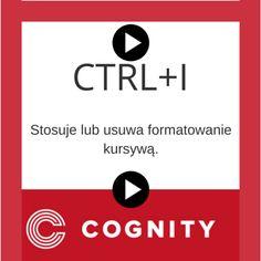 Skrót klawiaturowy w Excelu, więcej znajdziesz na www.cognity.pl