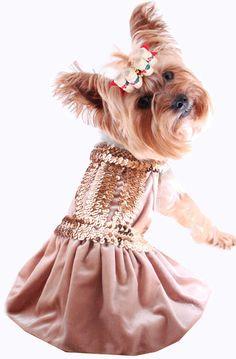 Dog dress puppy dresses doggie clothes formal wedding christmas