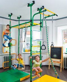 Indoor Kids Playground Swing Set, Home Sport Training Gym Fun Playset from Metal Swing Sets Kids Slide Plans DIY Toddler Backyard Playground Playset For Indoor Outdoor 4202884576503