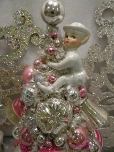 Ms Bingles Vintage Christmas: Cinderella and French Paris bottle brush trees.....