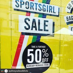Repost  @sydneysaleaddicts: #sportsgirl are having a huge sale with a further 50% reduced prices AND 50% off shoes. Get in quick! . . . #boxingdaysale #sydneysaleaddict #sydneysale #sydneyshopping #bargain