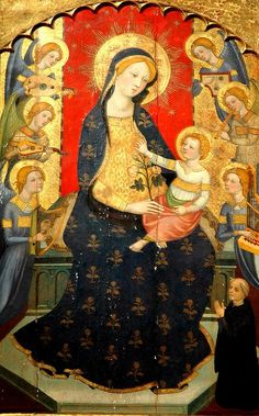 attr. Pere Serra (~1357-1409) / Virgin and Child with angel musicians / Barcelona: Diocesan Museum / ca 1375
