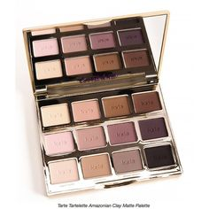 Amazon.com : Tarte Tartelette Amazonian Clay Matte Eyeshadow Palette... ($65) ❤ liked on Polyvore