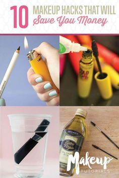 10 Life-Changing Makeup Hacks To Save You Money | Beauty Tips & Tricks by Makeup Tutorials at makeuptutorials.c...