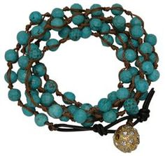 Wrapped Bracelet or Necklace with #Turquoise Beads @classiclegacy