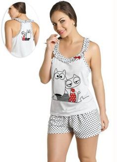 pijama feminino - Pe Sleepwear & Loungewear, Nightwear, Lazy Day Outfits, Cute Outfits, Pyjamas, Ropa Interior Boxers, Pijamas Women, Nightgown Pattern, Preteen Fashion