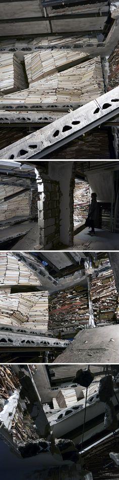 Marjan Teeuwen, Destroyed house in North. 2013/2014, monumental scale installation.