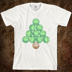 Baseball Christmas Tree tshirt