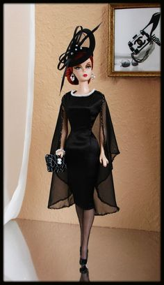OOAK Fashions for Silkstone / Fashion Royalty / Vintage barbie - With Zipper, by best4trust on eBay SOLD 8/1/15 $139.00