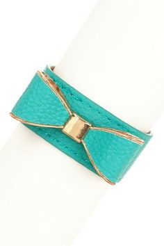 Bow Leather Bracelet by Sparkling Sage on @HauteLook