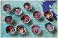Making Picture Bottle Cap Magnets (an update of the popular post: http://www.thecreativesalad.com/2011/12/09/picture-bottle-cap-magnets/)