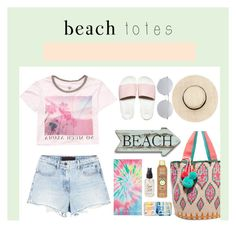 """beach please"" by littlelook on Polyvore featuring Post-It, Vans, Alexander Wang, Billabong, Sophie Anderson, Sun Bum, Olivine, Casetify, Linda Farrow and beachtotes"