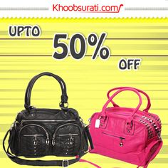 Get upto 50% off on handbags at khoobsurati.com  http://khoobsurati.com/bags/hand-bags