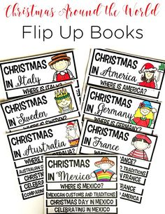 These Christmas Around the World activities are engaging, exciting, and cover everything you need as you learn about Christmas in other countries. They are the perfect Christmas Around the World flip book activities for first grade and second grade!