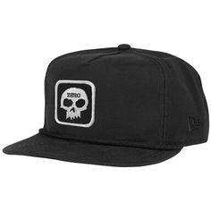 7281de785fc Zero Skateboards Zero Single Skull New Era Unstructured Snapback Hat - Black