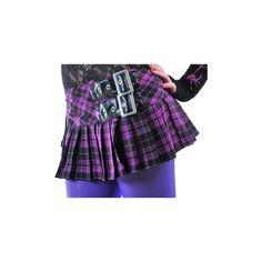 Hell Bunny Purple Chelsea Mini Skirt (19.725 CLP) ❤ liked on Polyvore featuring skirts, mini skirts, bottoms, purple plaid skirt, short plaid mini skirt, purple plaid mini skirt, pleated mini skirt and purple pleated skirt
