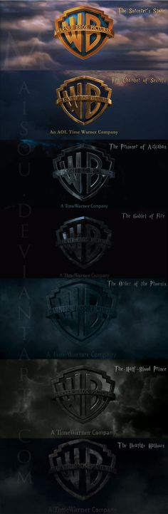 The Dark Evolution of Warner Bros. Harry Potter Movie Logos | StockLogos.com