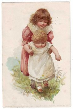 Harriet Mary Bennett postcard-sisters