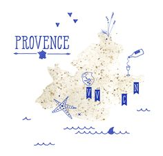 Illustration map Provence Cracco