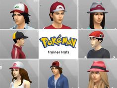 Pokemon Trainer Hats by Sanguinyx at Mod The Sims via Sims 4 Updates