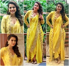 Super How To Wear Yellow Blouse Outfit Ideas Indian Dresses, Indian Outfits, Saree Gown, Saree Blouse, Kalamkari Dresses, Bluse Outfit, Indie Mode, Sari Blouse Designs, Stylish Sarees