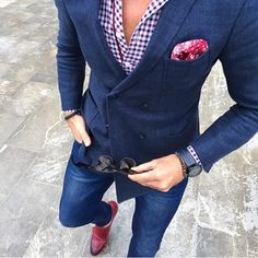 fit // double-breasted, navy suit, monk straps, sunglasses, watch