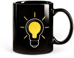 Light Bulb Mug (Heat Sensitive)    Are you a little sluggish in the mornings? Do you need some coffee in your system before you can fully function? Trust us, we feel ya. That's why we believe this heat sensitive Light Bulb Mug is the perfect cup to start your day!