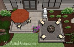 Simple and Affordable Brick Patio | Patio Designs and Ideas