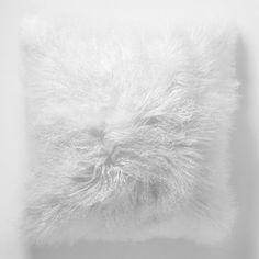 Mongolian Lamb Pillow Cover - Stone White (Square) #westelm