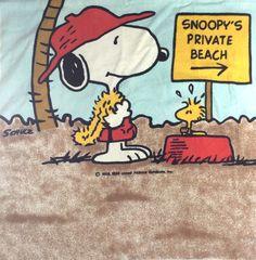 Snoopy's private beach.