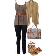 College clothes, created on polyvore by jennifercapps (this looks nothing like my clothes for college...but I wish it did)