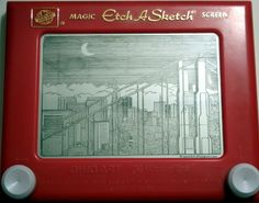 San Francisco on an etch-a-sketch