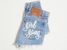 All items are handmade and created using vintage denim so no two are ever exactly alike. Items may slightly vary from what is pictured. All sizes according to waist in inches, please view the size gui