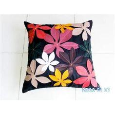 Felt patch cushion 93  Fabric: poly silk