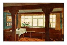 An English Arts & Crafts breakfast nook 1912